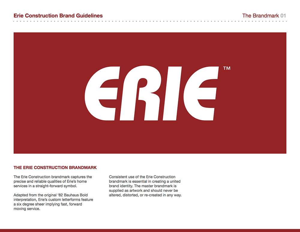 The Erie Construction Brandmark
